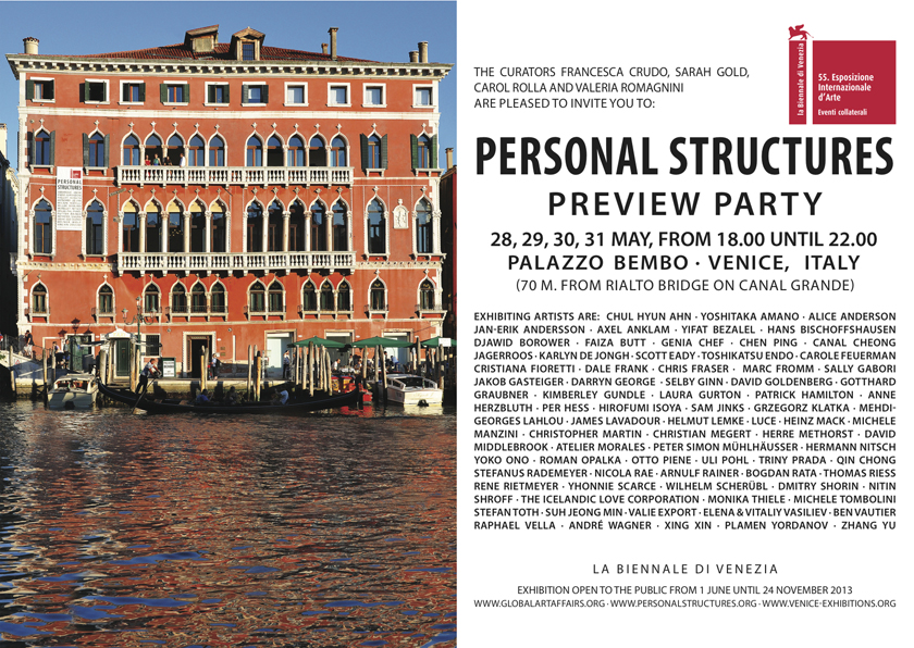 PERSONAL STRUCTURES AT PALAZZO BEMBO 2013